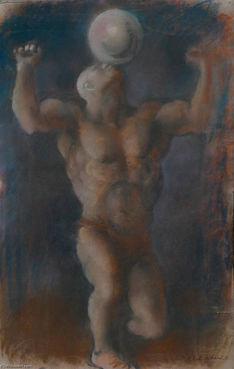 The Juggler, Pastel by Pavel Fedorovich Tchelitchew