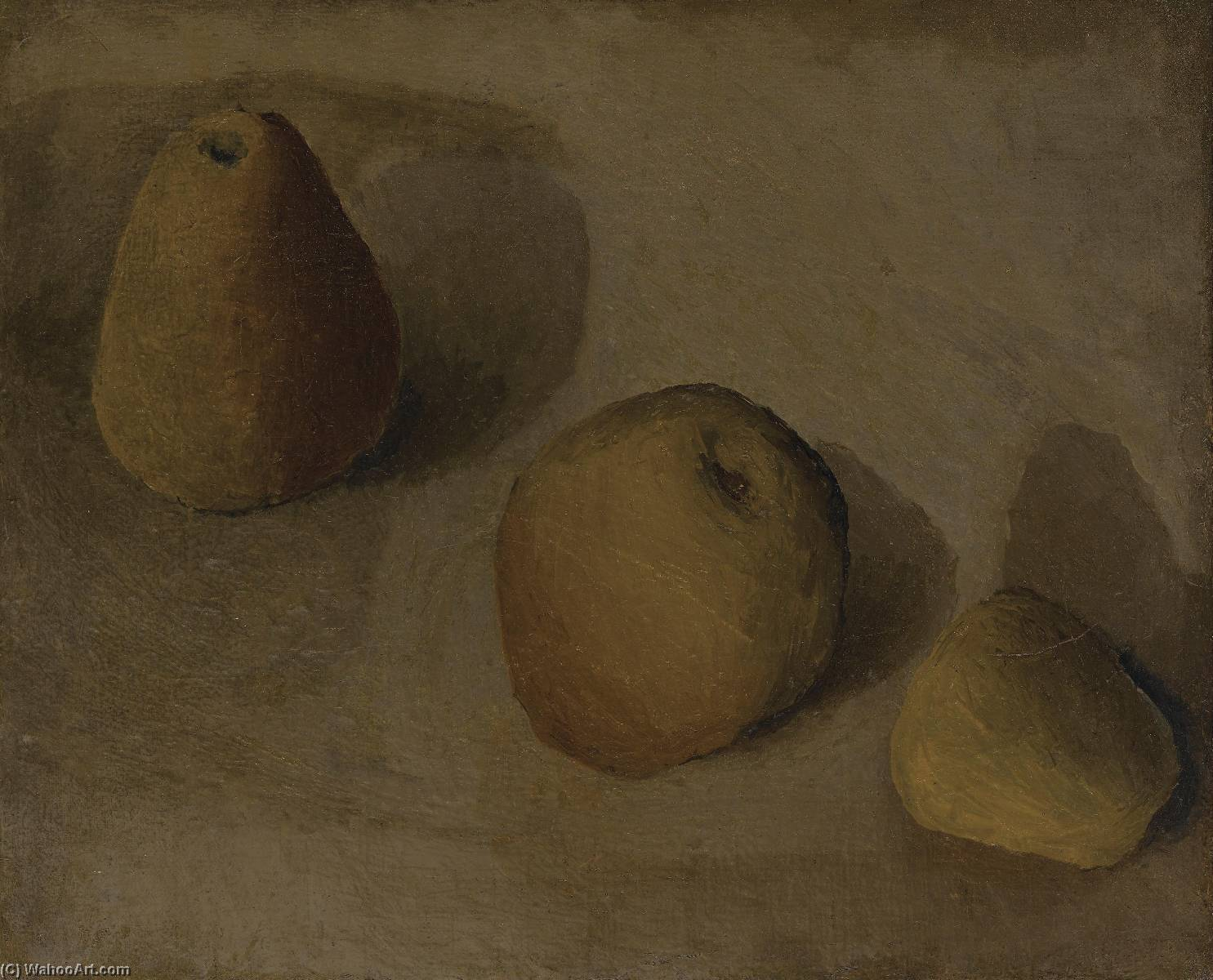 Still Life with Apples and Pears, Oil On Canvas by Pavel Fedorovich Tchelitchew