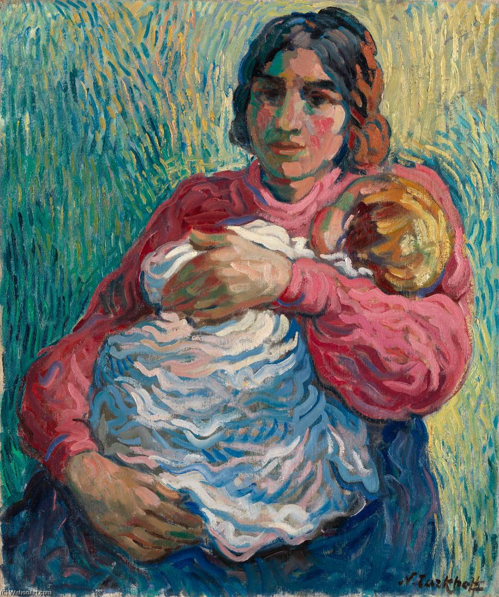 Motherhood, 1906 by Nicolas Tarkhoff (1871-1930) | Famous Paintings Reproductions | WahooArt.com
