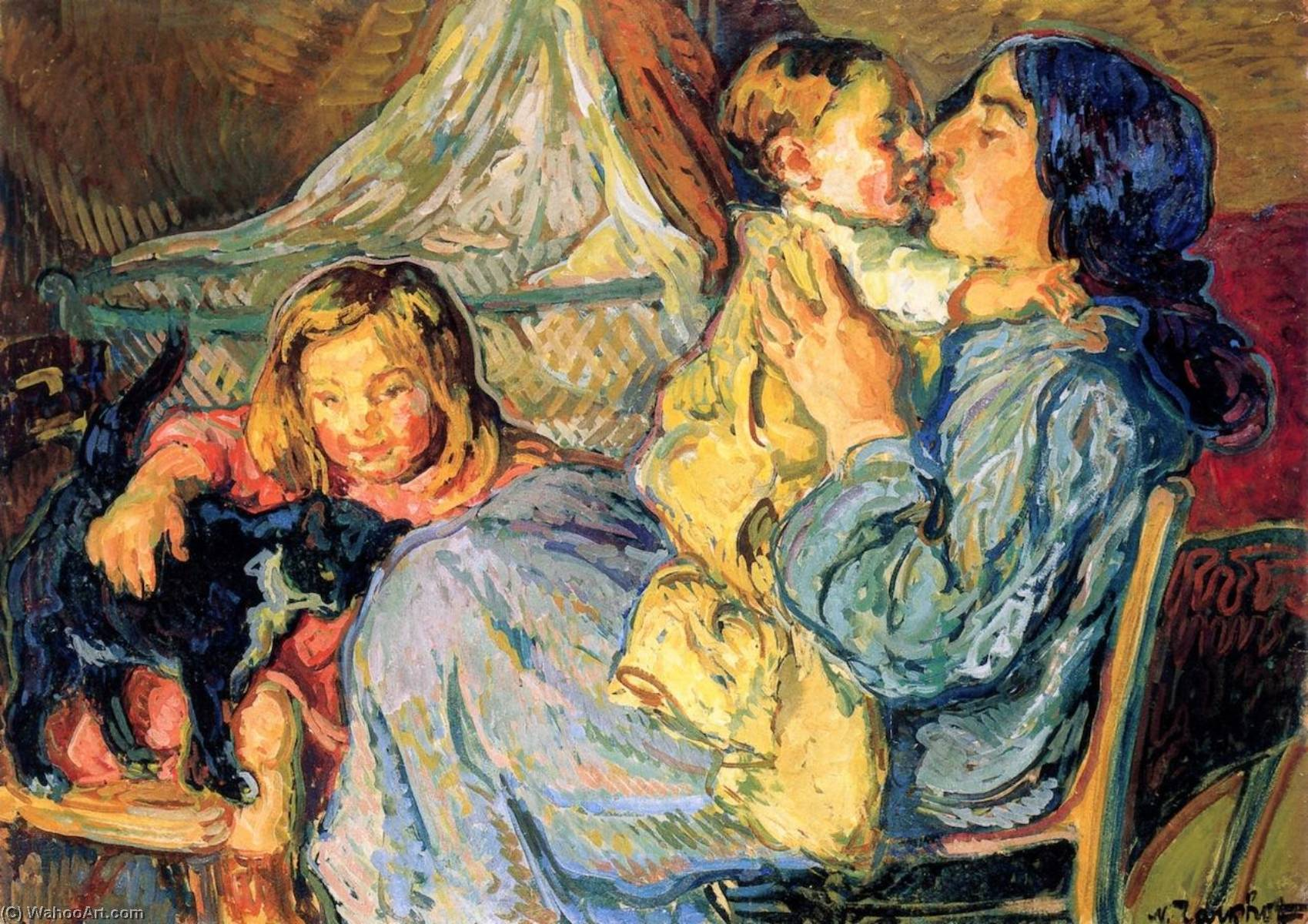 My Family by Nicolas Tarkhoff (1871-1930) | Museum Quality Reproductions | WahooArt.com