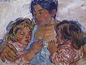 Order Painting Copy : Mother`s Tenderness, 1909 by Nicolas Tarkhoff (1871-1930) | WahooArt.com