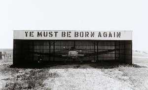 Larry W Schwarm - Airplane Hanger (sic), Jackson County, from the Kansas Documentary Survey Project