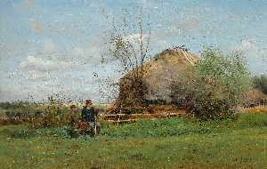 Vladimir Yegorovich Makovsky - Early Autumn in the Village