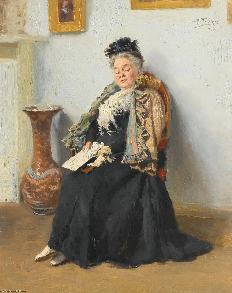 Order Art Reproductions | Portrait of a Noblewoman by Vladimir Yegorovich Makovsky (1846-1920, Russia) | WahooArt.com