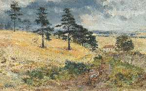 William Mctaggart - Cornfield at Cowden