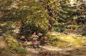 William Mctaggart - Gathering Brambles Kevoch Mill