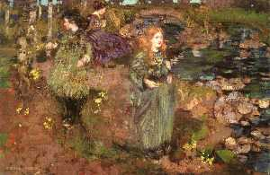 George Henry - Girls Gathering Cowslips