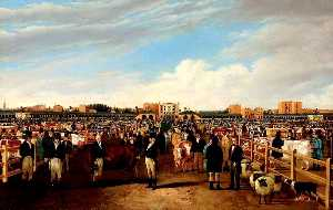 William Henry Davis - The Metropolitan Cattle Market, Copenhagen Fields, London