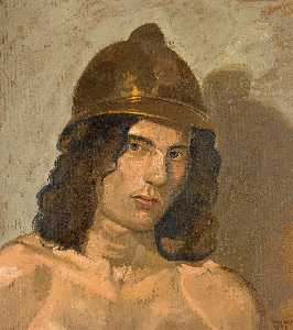 Yiannis Tsaroychis - Young man with helmet (Portrait of Alain)