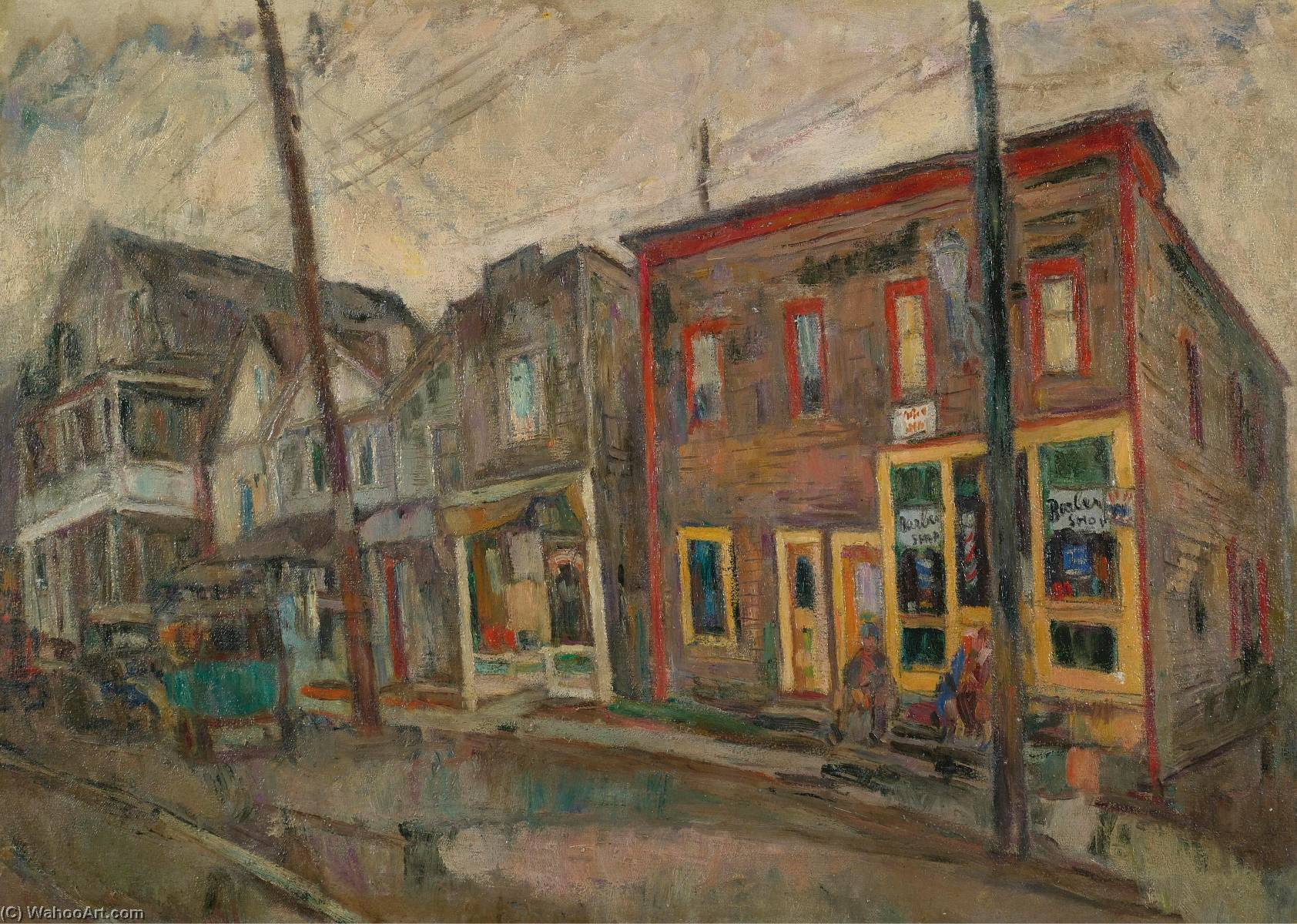 Street in the Bronx, Oil On Canvas by Abraham Manievich