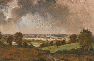 John Constable - Dedham Vale, with a view to Langham church from the fields just east of Vale Farm, East Bergholt