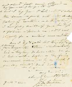 John Constable - Autograph letter signed ( John Constable ), to Henry Hebbert Esq