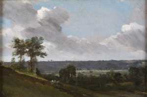 John Constable - Hilly Landscape