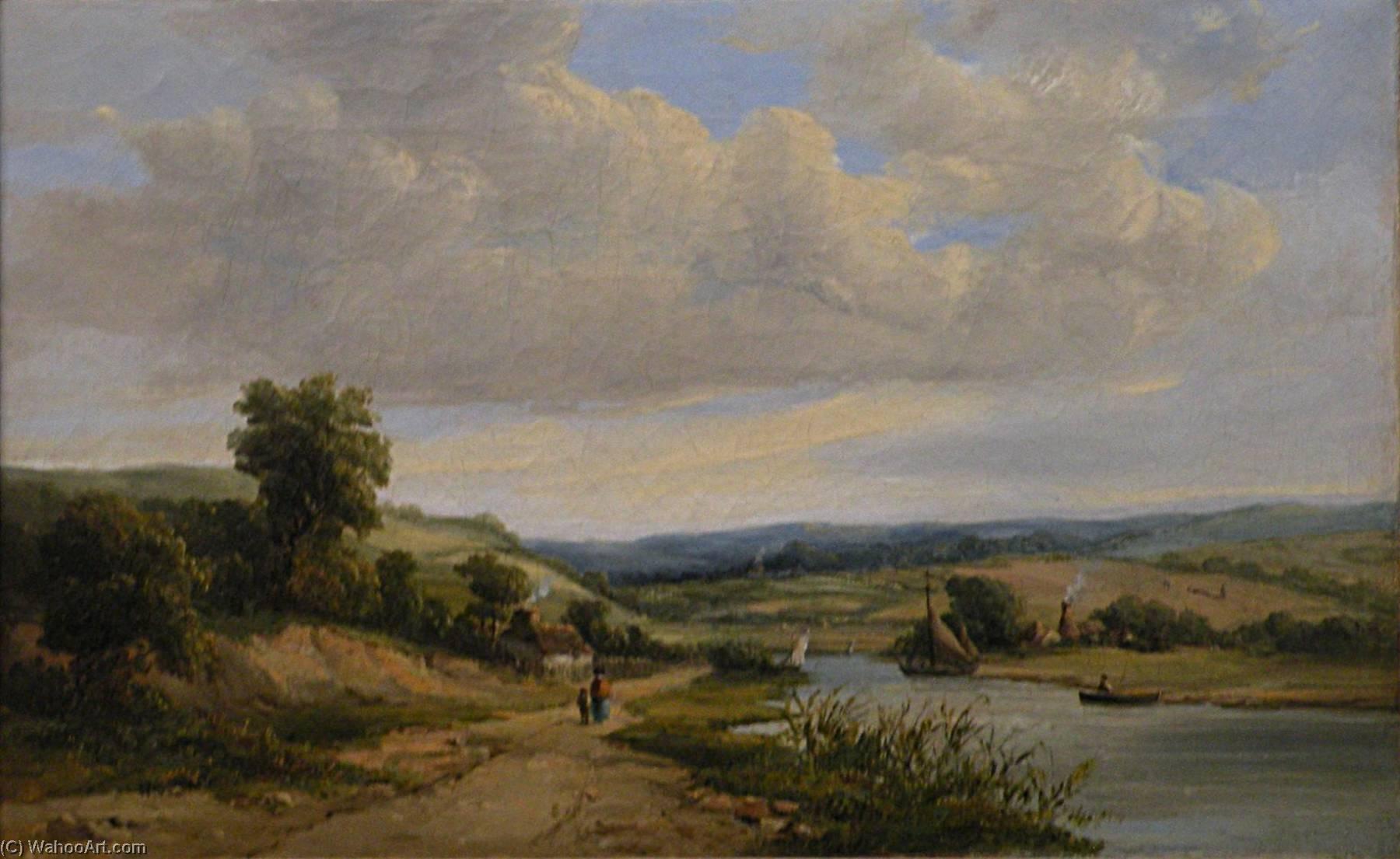 English Landscape Français Paysage, Oil On Canvas by John Constable ...