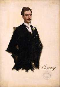 John Lavery - The Honourable Charles W. A. N. Cochrane Baillie, Lord Lamington (sketch)