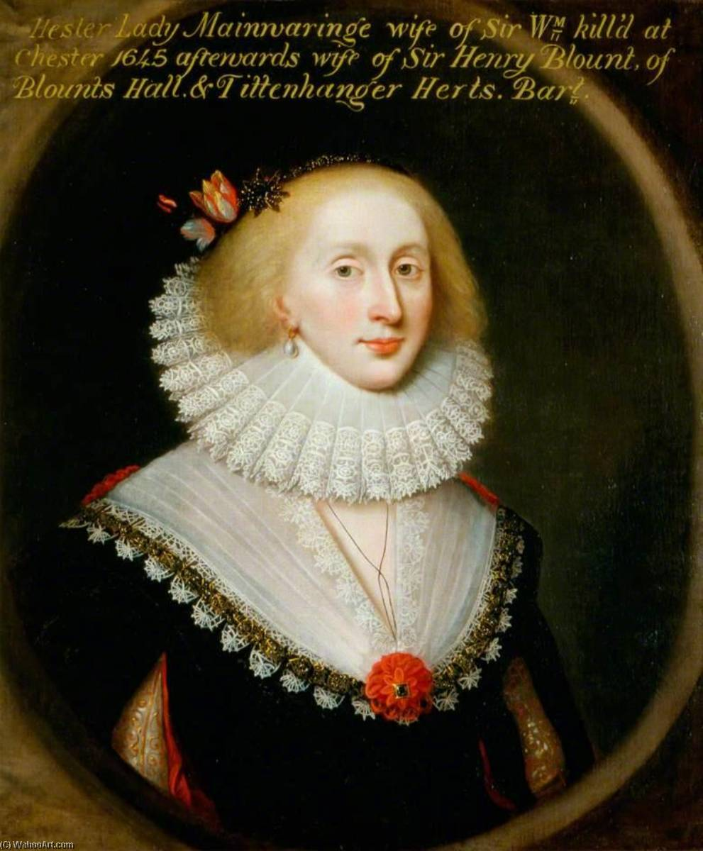 Lady Hester Mainwaring, née Wase, Oil On Canvas by Cornelis Jonson Van Ceulen (1593-1661, United Kingdom)