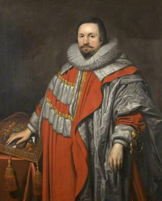 Lord High Keeper Coventry, Oil On Canvas by Cornelis Jonson Van Ceulen (1593-1661, United Kingdom)