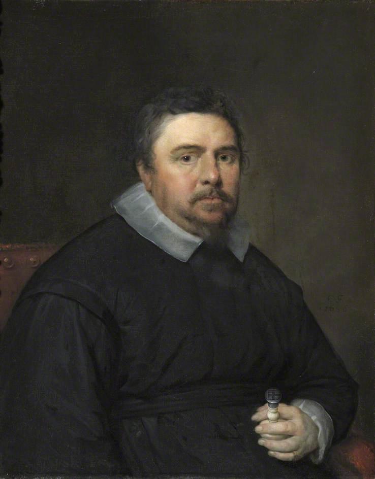 Isaac Bargrave, Dean of Canterbury, Oil On Canvas by Cornelis Jonson Van Ceulen (1593-1661, United Kingdom)