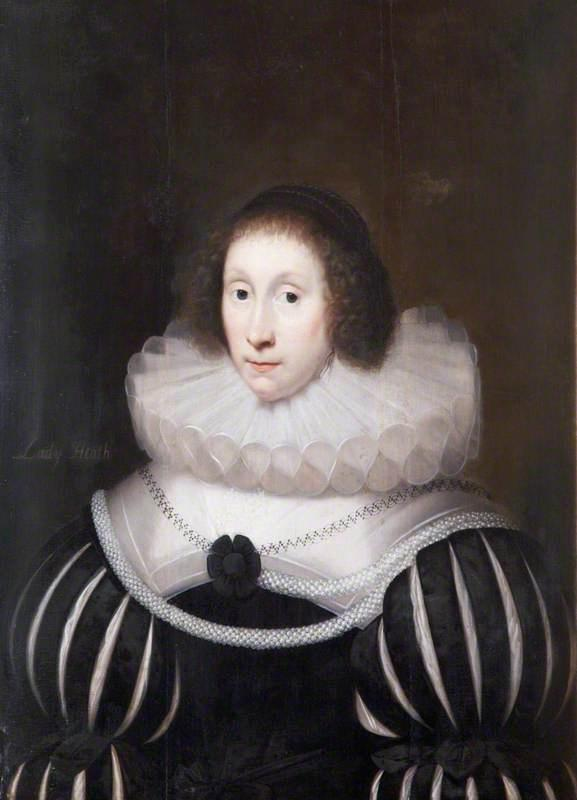 Margaret Miller, Lady Heath, 1631 by Cornelis Jonson Van Ceulen (1593-1661, United Kingdom) | WahooArt.com