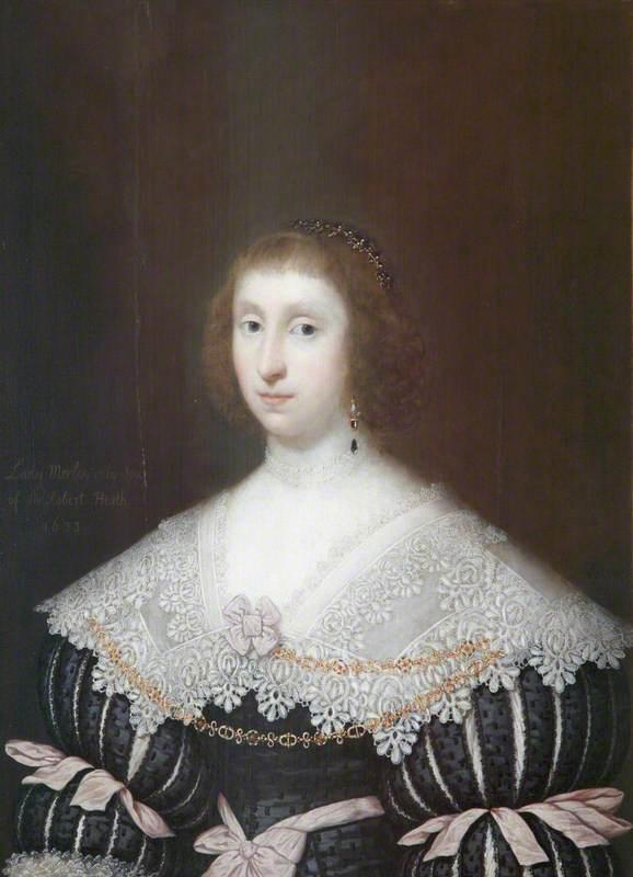 Mary Heath, Lady Morley, Oil On Panel by Cornelis Jonson Van Ceulen (1593-1661, United Kingdom)