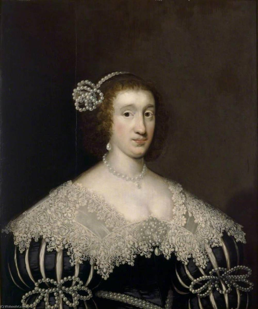 Lady Gertrude Howard, 1630 by Cornelis Jonson Van Ceulen (1593-1661, United Kingdom) | Famous Paintings Reproductions | WahooArt.com