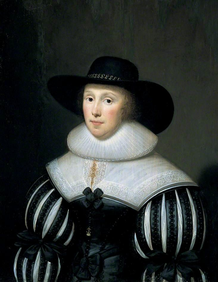 Grace Bradbourne, Wife of Sir Thomas Holte by Cornelis Jonson Van Ceulen (1593-1661, United Kingdom) | Museum Quality Reproductions | WahooArt.com