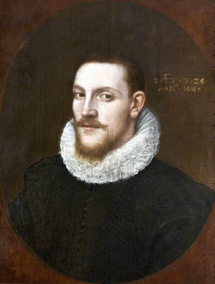 John Penrose, Aged 26, Oil On Panel by Cornelis Jonson Van Ceulen (1593-1661, United Kingdom)