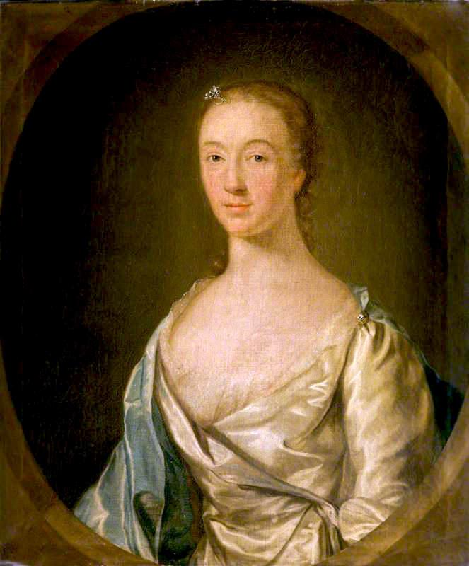 Mary Ogilvie, Wife of Alexander Irvine, 17th Laird of Drum, 1756 by Cosmo Alexander (1724-1772) | Museum Art Reproductions Cosmo Alexander | WahooArt.com