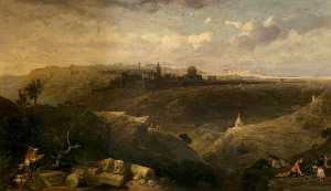 David Roberts - Jerusalem from the Mount of Olives