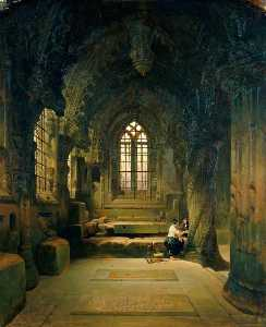 David Roberts - Entrance to the Crypt, Roslin Chapel