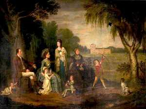 David Allan - John Francis, 7th Earl of Mar, and Family