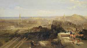 David Roberts - Edinburgh from the Castle