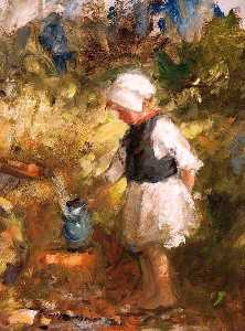 Robert Gemmell Hutchison - Filling the Water Jug