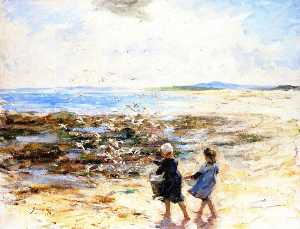 Robert Gemmell Hutchison - Feeding the Seagulls