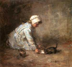 Robert Gemmell Hutchison - The Kitten-s Milk