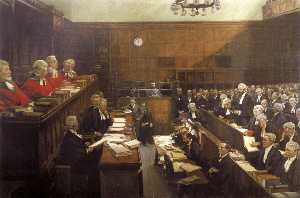 John Lavery - High Treason Trial of Roger Casement