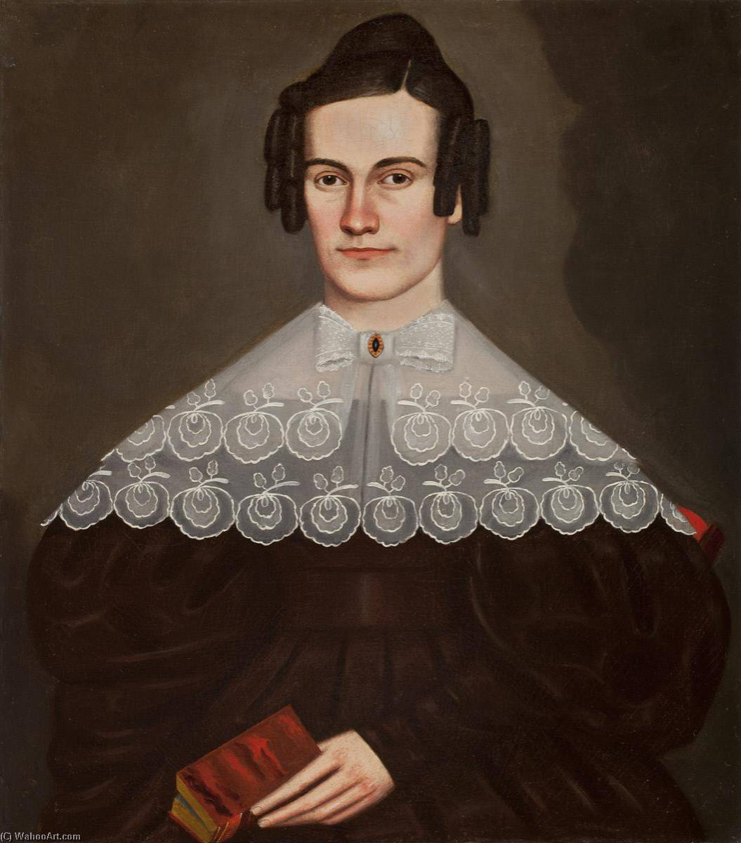 Loisa Cowles, Oil On Canvas by Erastus Salisbury Field