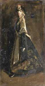 John Lavery - Hazel in Black and Gold (sketch)