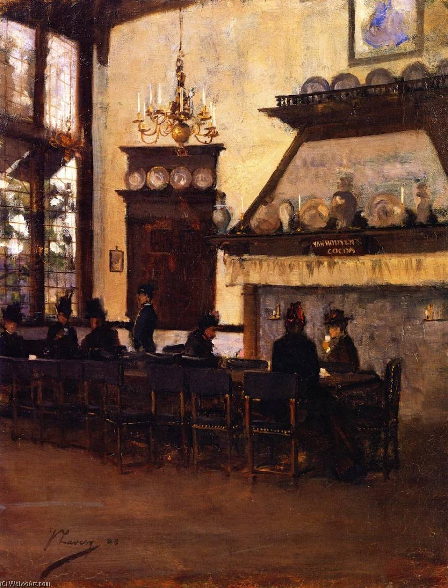 The Dutch Coffee House, Glasgow International Exhibition, 1888 by John Lavery (1856-1941, Ireland) | Museum Quality Reproductions | WahooArt.com