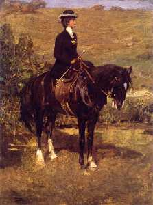 John Lavery - An Equestrian Lady (also known as Idonea in Morocco)