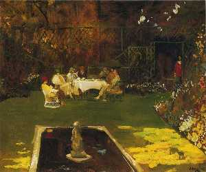 John Lavery - The Garden at Ardilea