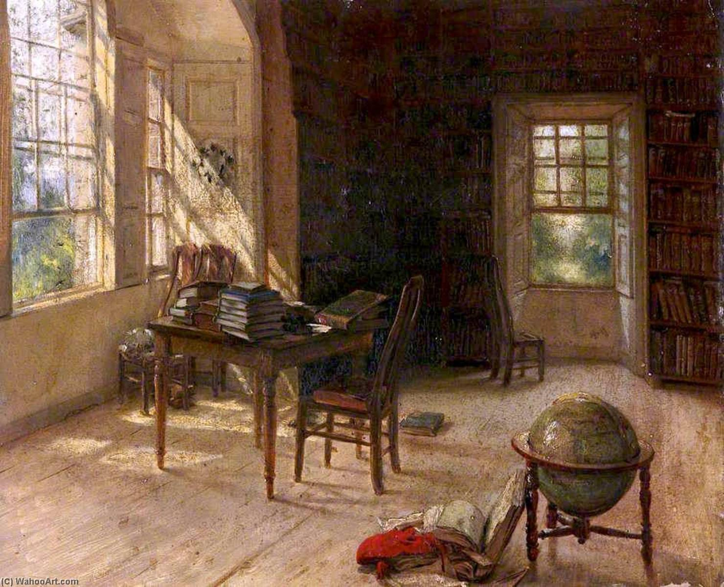 Order Art Reproductions | The Library at Haddo House by George Paul Chalmers | WahooArt.com