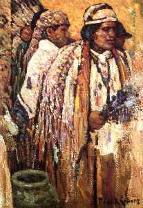 Frank Coburn - Indians in Ceremonial Robes