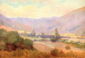 Frank Coburn - Meadow Surrounding Mountains