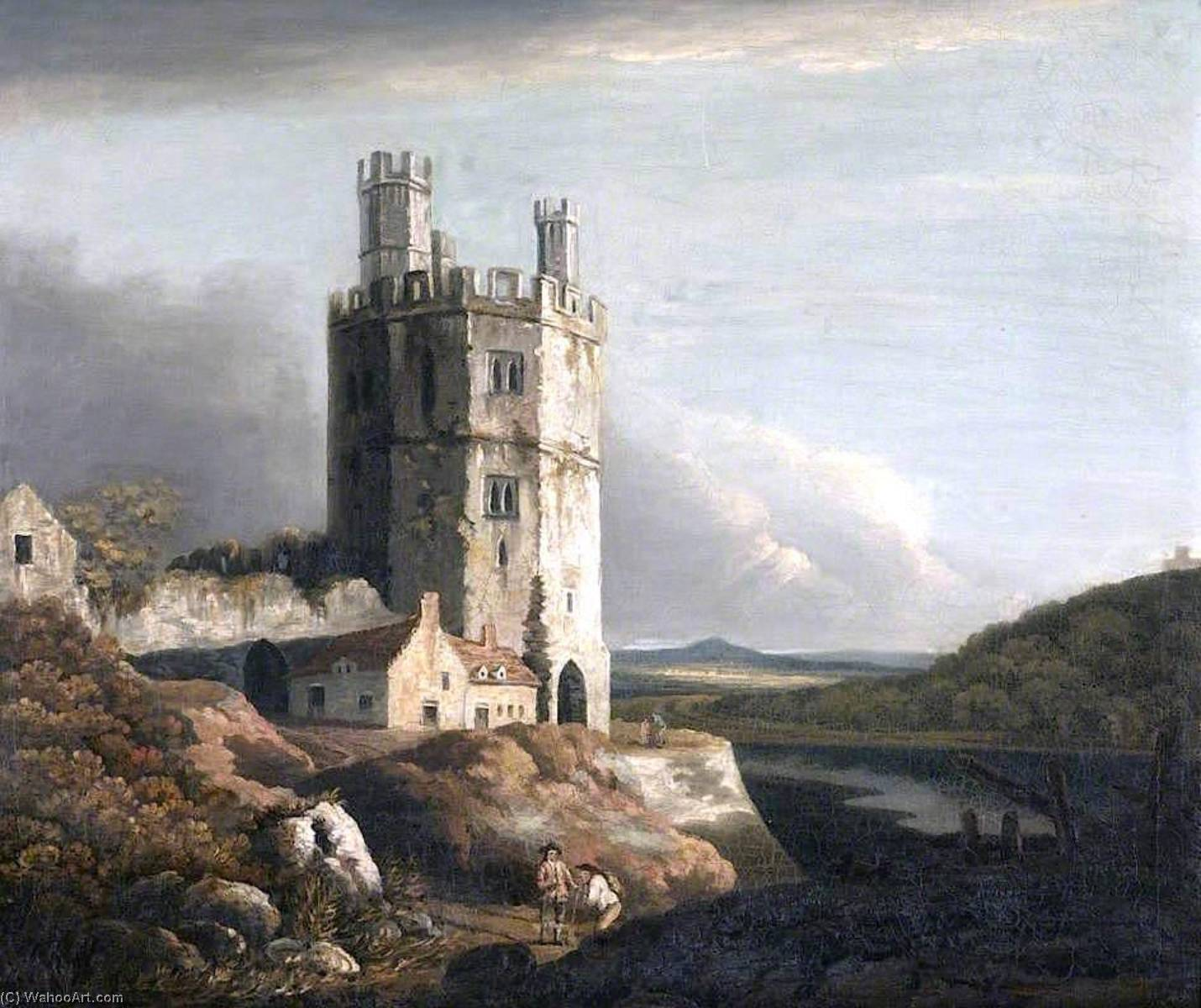 The Eagle Tower, Carnarvon Castle, 1802 by Benjamin Barker Ii | Famous Paintings Reproductions | WahooArt.com