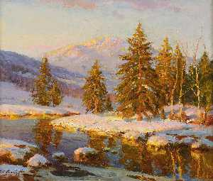Constantin Westchiloff - Winter Sunset
