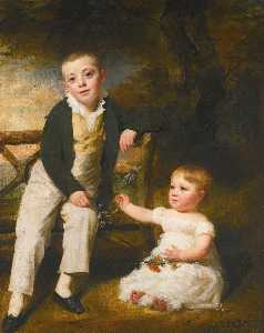 Henry Raeburn - Portrait of Willoughby and Arthur Wood