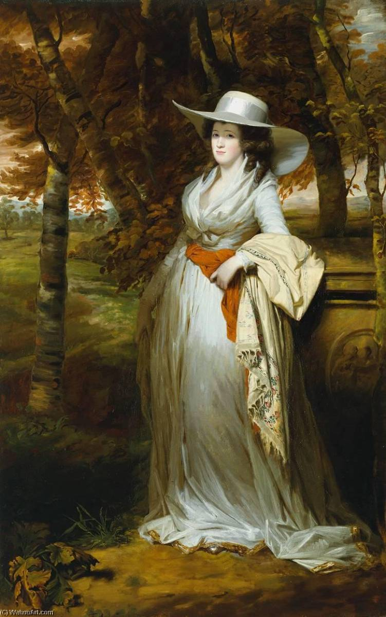 Mrs Downey, 1790 by Henry Raeburn (1756-1823, United Kingdom) | Art Reproduction | WahooArt.com