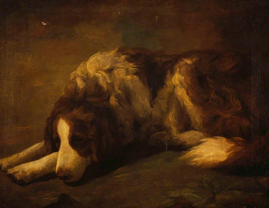 A Dog by Henry Raeburn (1756-1823, United Kingdom) | Oil Painting | WahooArt.com