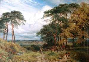 Henry Thomas Dawson - The Gypsys' Encampment Nottingham from Wilford Hill